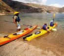 60'  Double Sea Kayak στην παραλία Λιμένι, για 2 άτομα!