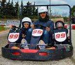 30΄ Family Go-kart for 2 Kids + 1 Dad or mom!